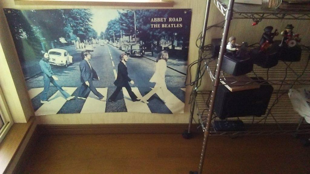小西正尚のビートルズコレクション、アビイ・ロードのポスターを撮影した写真